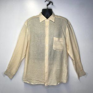 Ermenegildo Zengna yellow linen long sleeve shirt
